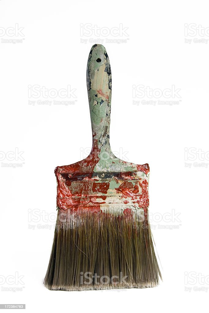 Old Painters Brush 2 royalty-free stock photo