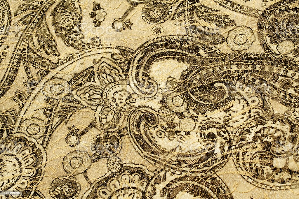 Old paisley fabric royalty-free stock photo