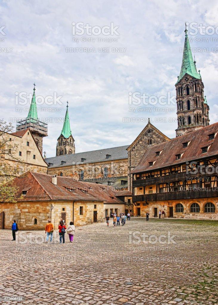 Alten Palast und Bamberger Dom in Bamberg Zentrum Deutschland – Foto