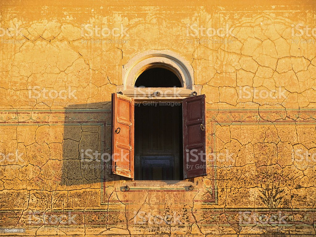 Old Palace Window, India stock photo