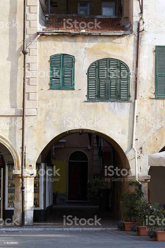 Old palace with Colonnade royalty-free stock photo