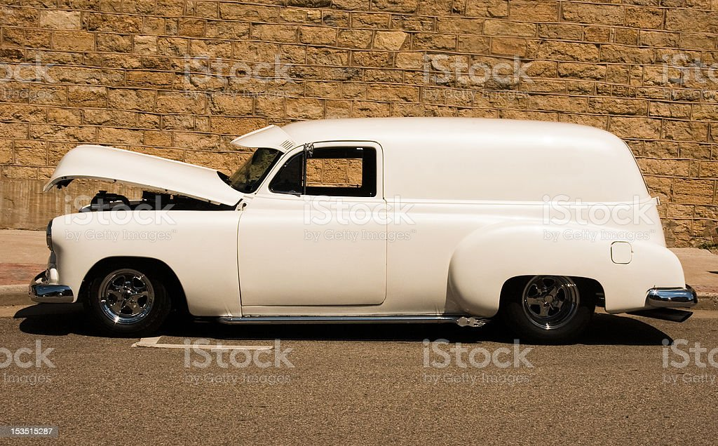 old panel van royalty-free stock photo