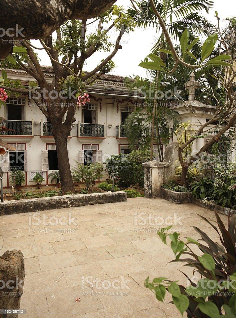 Old Panjim Architecture royalty-free stock photo