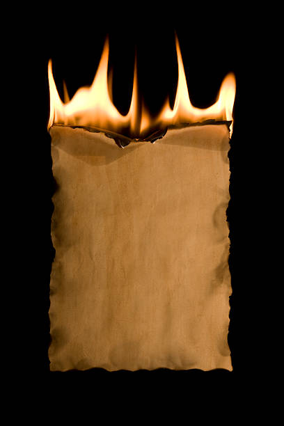old paper and fire  burning stock pictures, royalty-free photos & images
