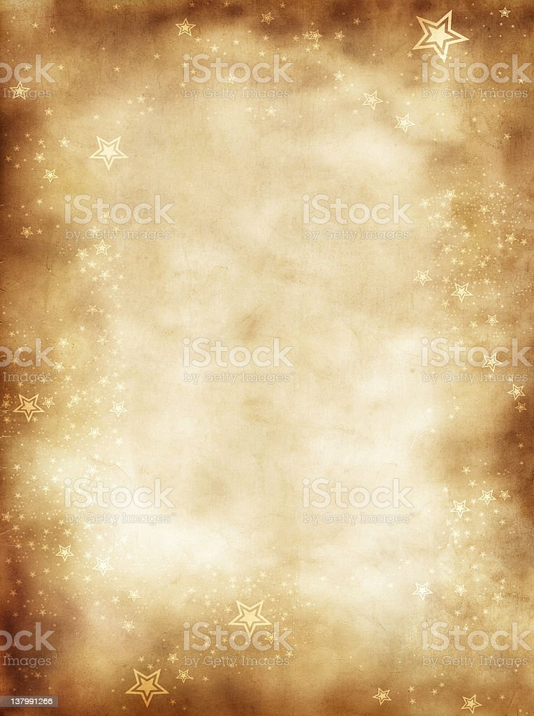 old paper and stars background royalty-free stock photo