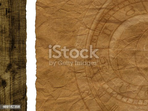 1129542015 istock photo Old paper background with clock 469182358