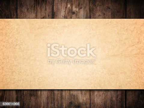 470521655istockphoto Old Paper Background Wood Wall, Brown Papers Texture  Wooden Planks 636614966