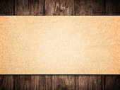 istock Old Paper Background Wood Wall, Brown Papers Texture  Wooden Planks 636614966