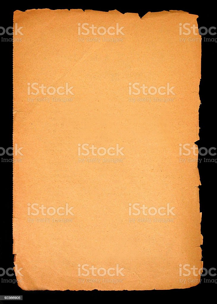 Old paper blank page royalty-free stock photo