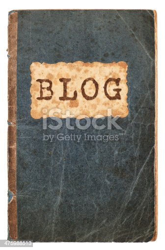 istock old paper book cover isolated on white 475988513