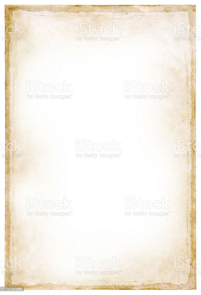 old paper border stock photo