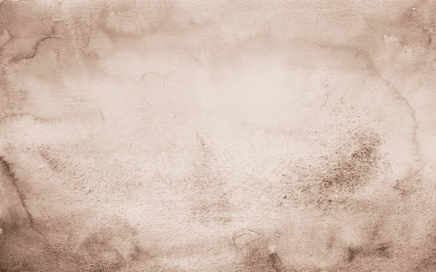 Old paper Brown watercolor background stock photo