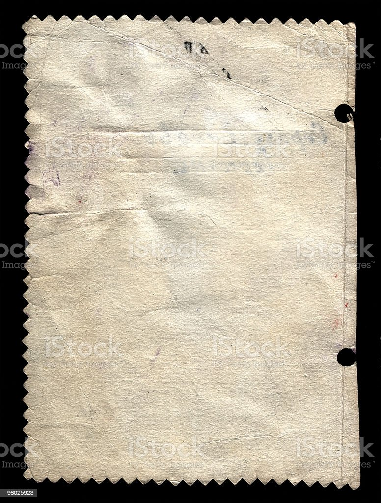Old paper for record royalty-free stock photo