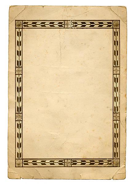 alte papier-frame - klapprahmen stock-fotos und bilder