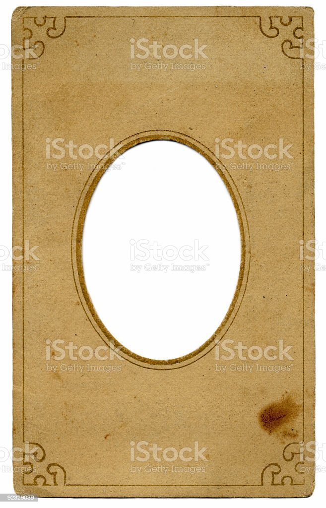 old paper frame royalty-free stock photo