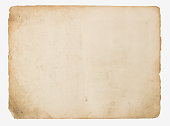 istock Old paper isolated on a white background 656571198