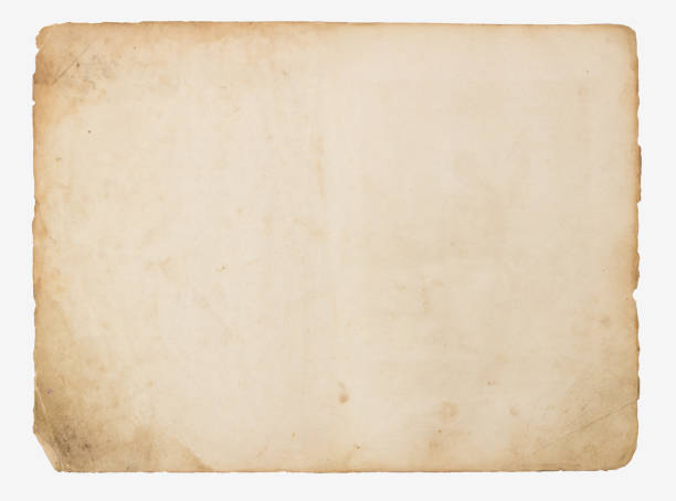 old paper isolated on a white background - old fashioned stock pictures, royalty-free photos & images