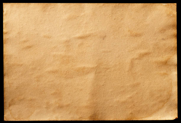 Old Paper isolated on Black Background. stock photo