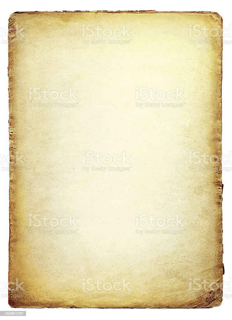 Livro velho isolado no fundo branco - foto de acervo