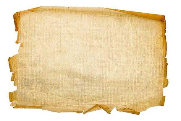 Alten Blatt Papier isoliert auf weißem Hintergrund – Foto