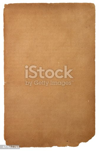 155277575istockphoto Old paper isolated over white 477517793
