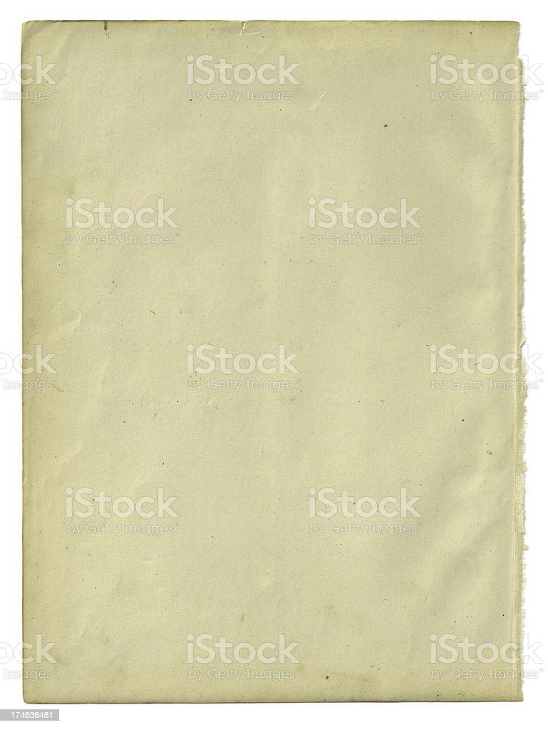 Old Paper Isolated royalty-free stock photo