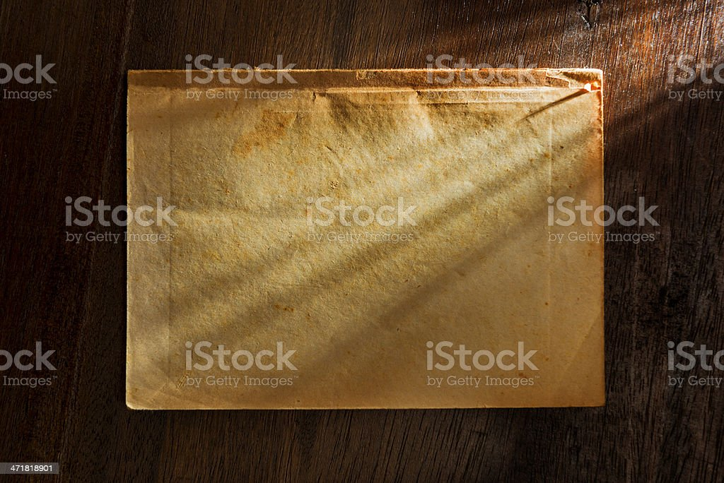 Old paper on desk royalty-free stock photo