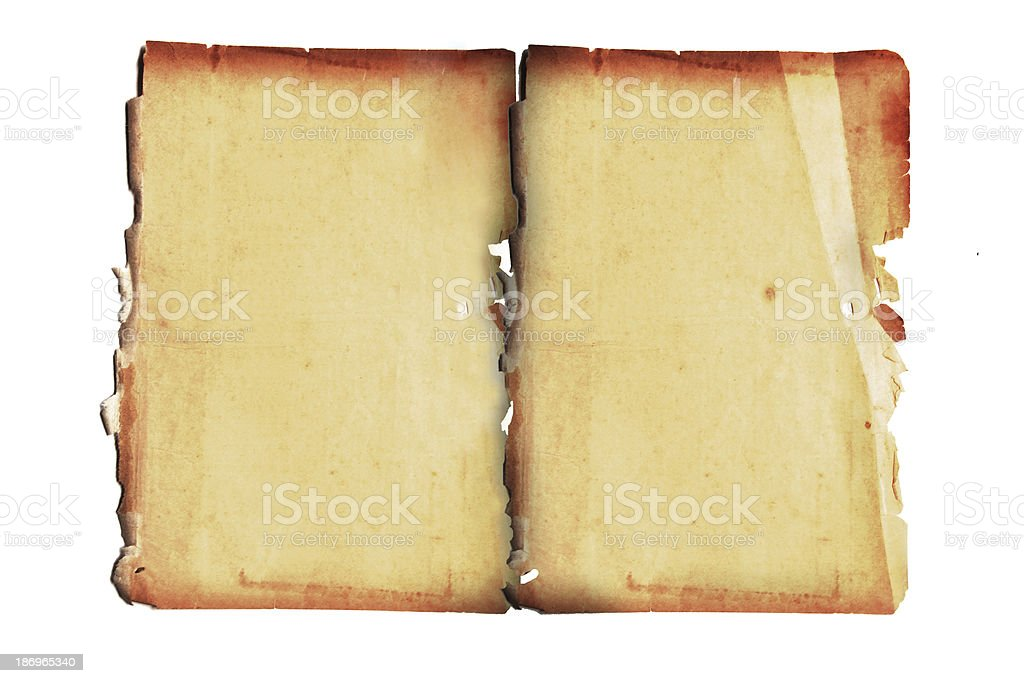 Old paper on the white background. royalty-free stock photo