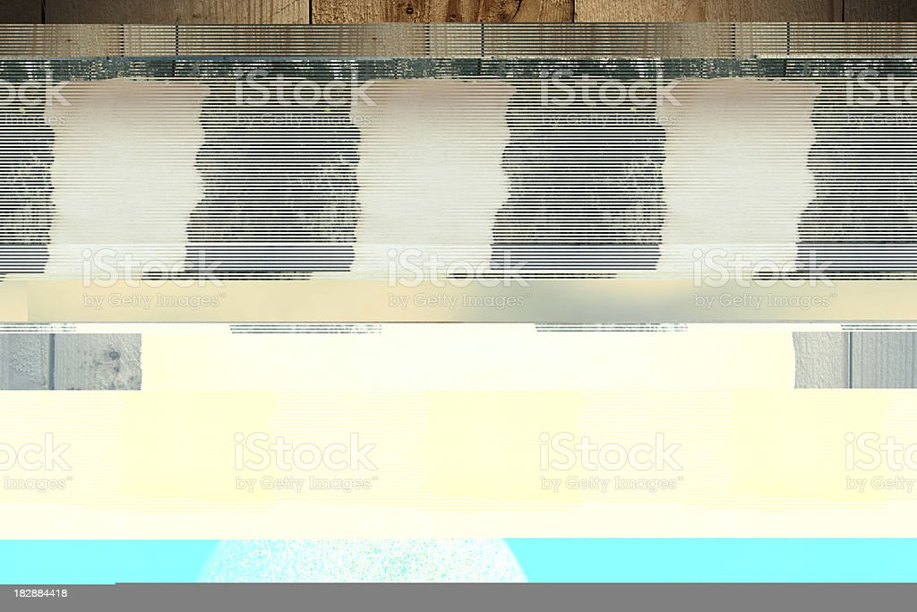 Old paper on wooden wall royalty-free stock photo