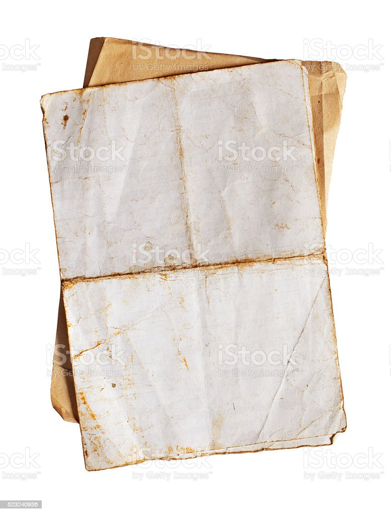 Old paper or letter stock photo