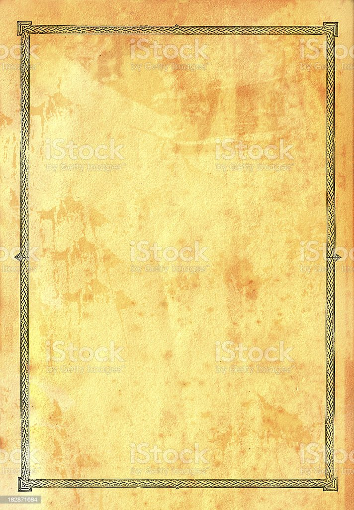 Old Paper Ornate Border royalty-free stock photo