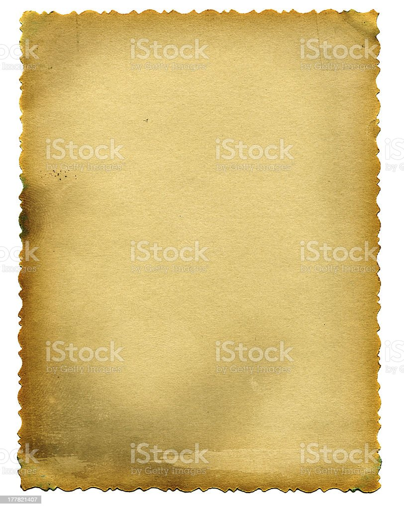 old paper page stock photo