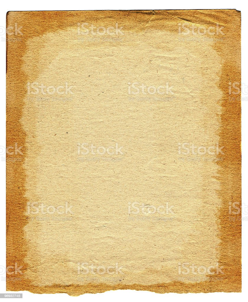 old paper page royalty-free stock photo