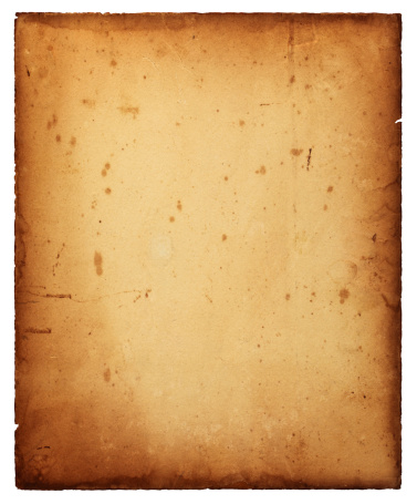 Old paper isolated on white.