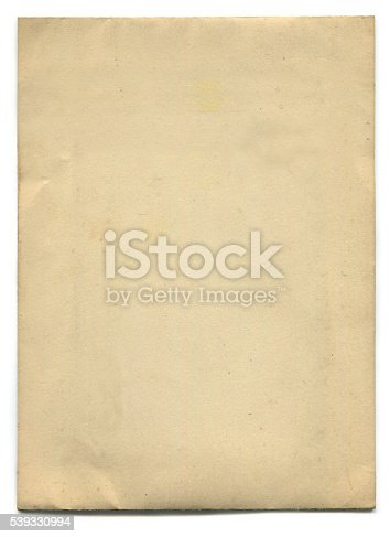 istock Old Paper (including clipping path) 539330994