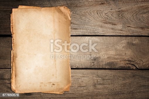 istock Old paper 677650576