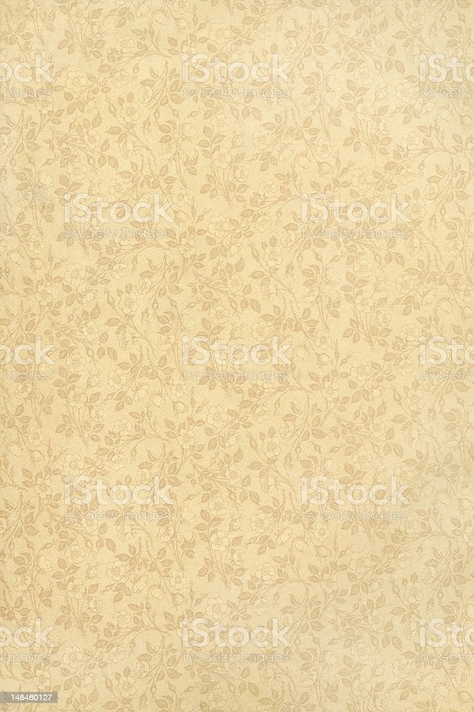 Old Paper, Printed roses, Background royalty-free stock photo