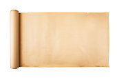 istock Old paper scroll on white background isolated 1139094167