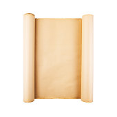 istock Old paper scroll on white background isolated 1139094173