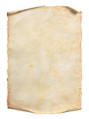 istock Old paper scroll or parchment isolated on a white background. Clipping path included. 1224090119