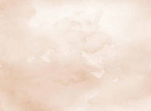 Brown/ sepia watercolor background hand colored with layers on white watercolor paper. My own work.