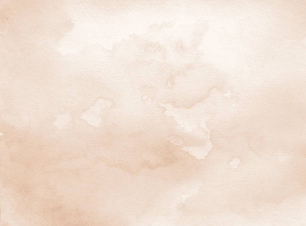 old paper sepia watercolor background stock photo