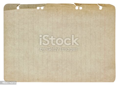 1129542015 istock photo old paper sheet isolated on white 463274373