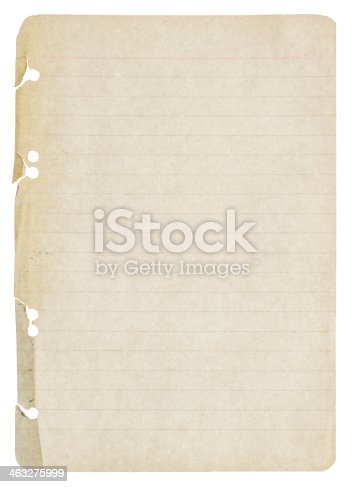 istock old paper sheet isolated on white 463275999