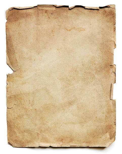 old paper sheet isolated - curled up stock pictures, royalty-free photos & images