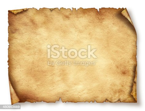 istock Old paper sheet. Original background or texture 450953669