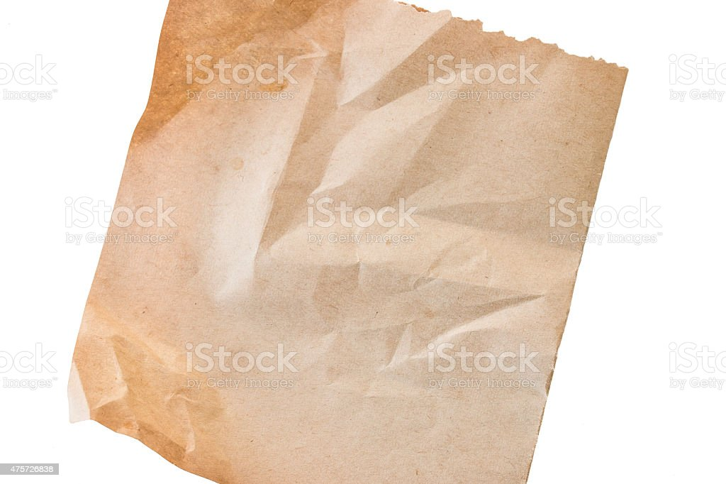 old paper sheet stock photo