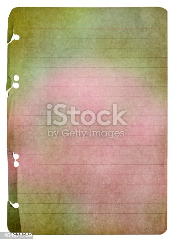 istock old paper sheet with watercolor 464975259