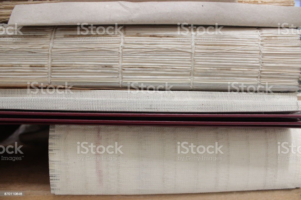 Old paper sheets stock photo