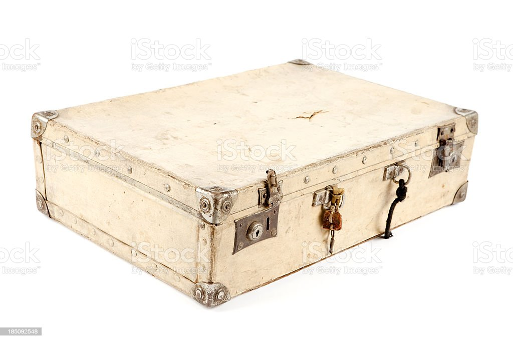 Old paper suitcase royalty-free stock photo